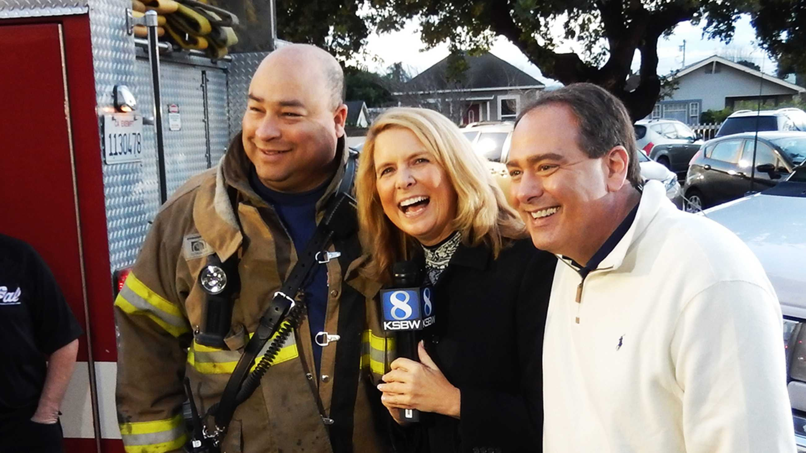 Dan Green, Erin Clark, and Dan Green! This fireman's name really is Dan Green.