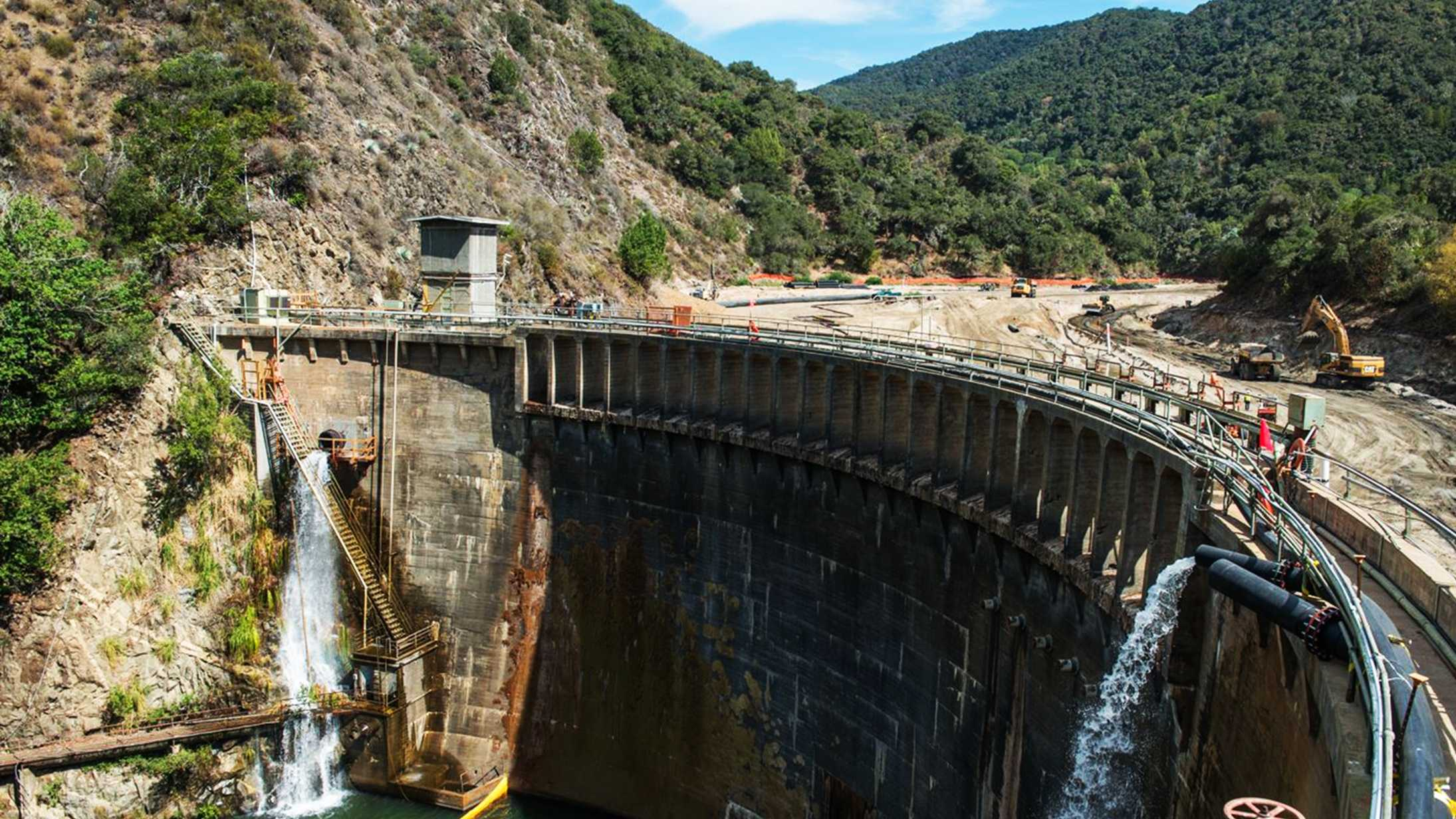 The San Clemente Dam removal project in Carmel Valley is seen in July 2014.