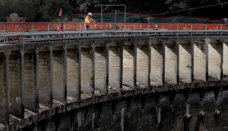 The new river channel will allow workers to take down the dam structure without worrying about a catastrophic mudslide.