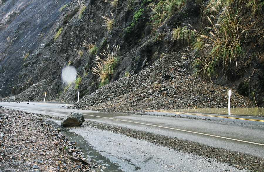 Highway 1 was closed for two days from Ragged Point in north coastal San Luis Obispo County to just south of Big Sur due to multiple rock and mudslides. Dec. 12