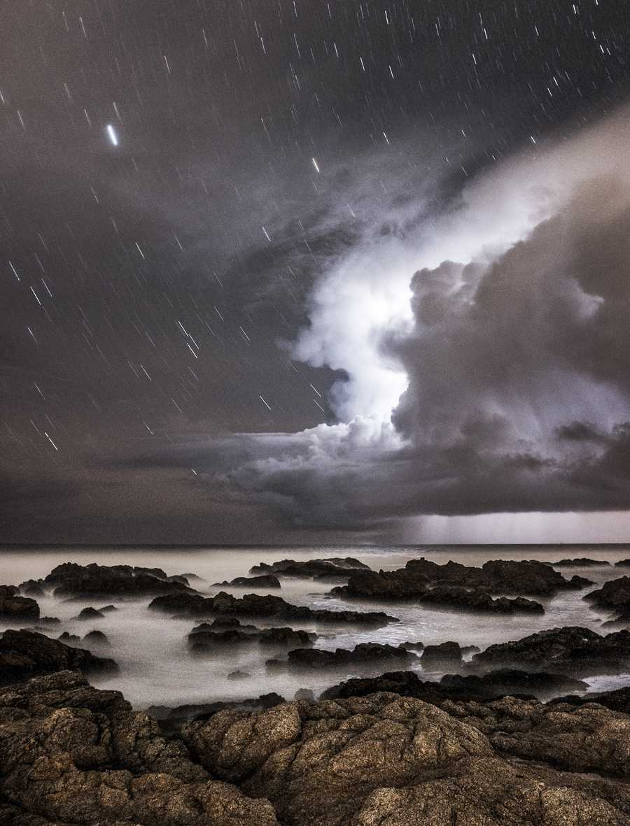 This beautiful photo of lightning was shot from Asilomar State Beach by Nolanb on Dec. 12.