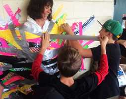 Rio Del Mar Elementary School students in Aptos raised money for Second Harvest Food Bank Santa Cruz County with some sticky fun on Wednesday.