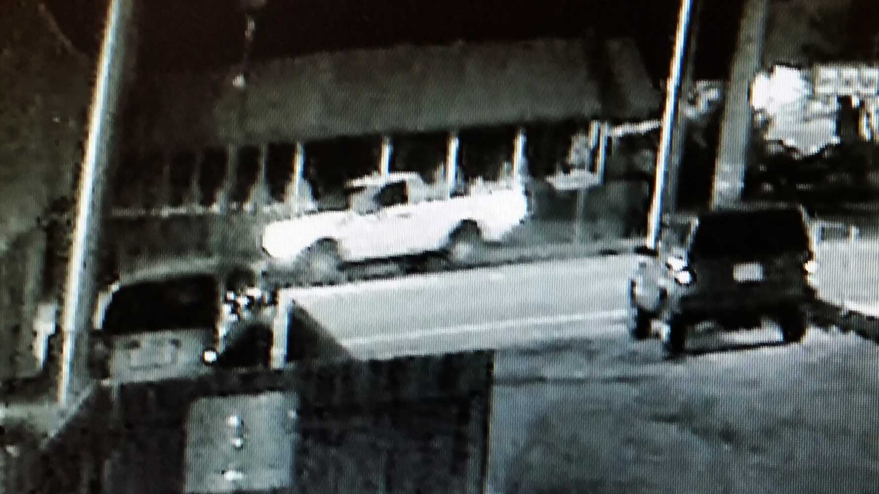 A pickup truck that killed a Santa Cruz man is seen in this surveillance image.