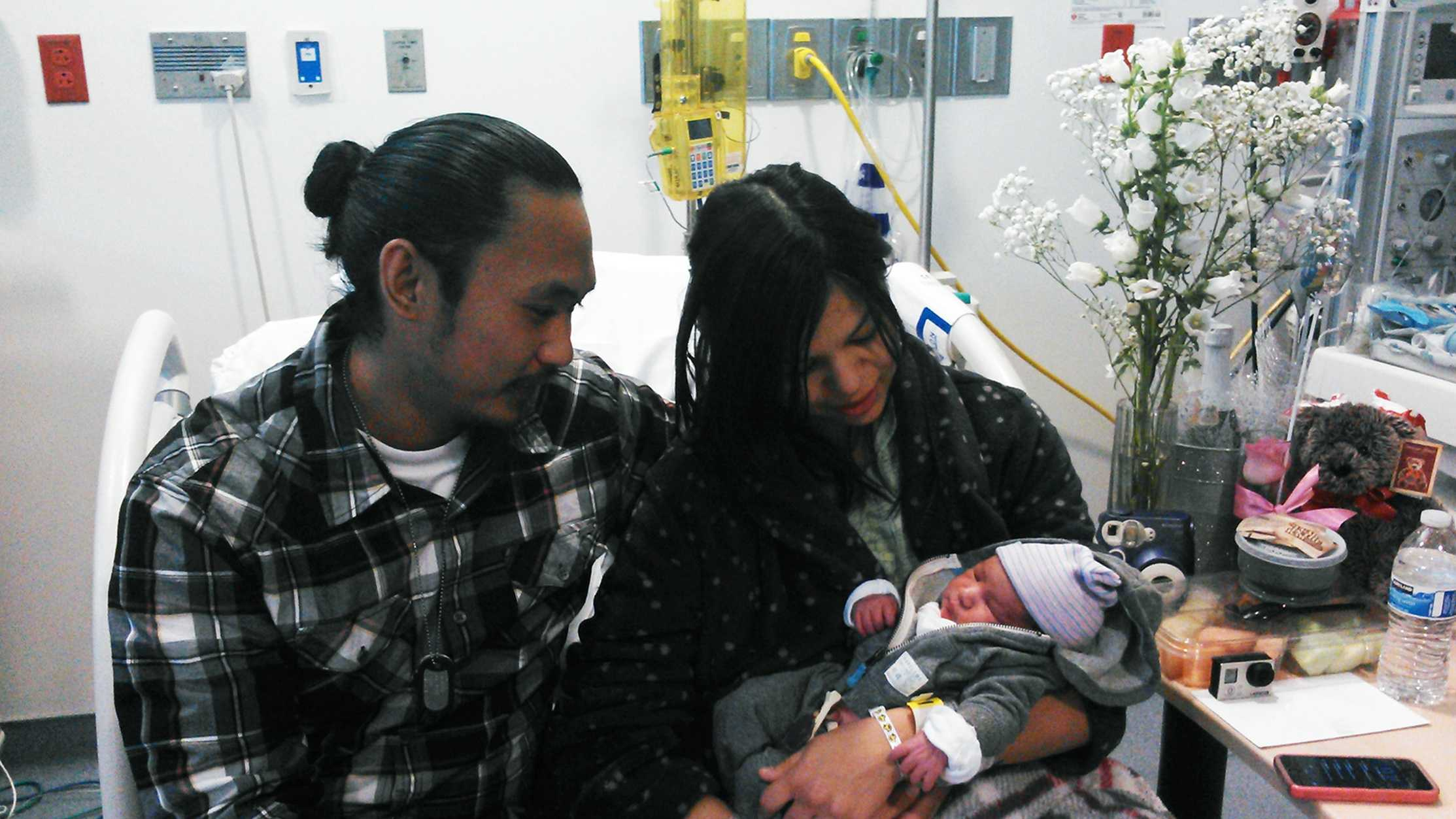Elijah Leon Tumacder is the Central Coast's first baby of 2015.