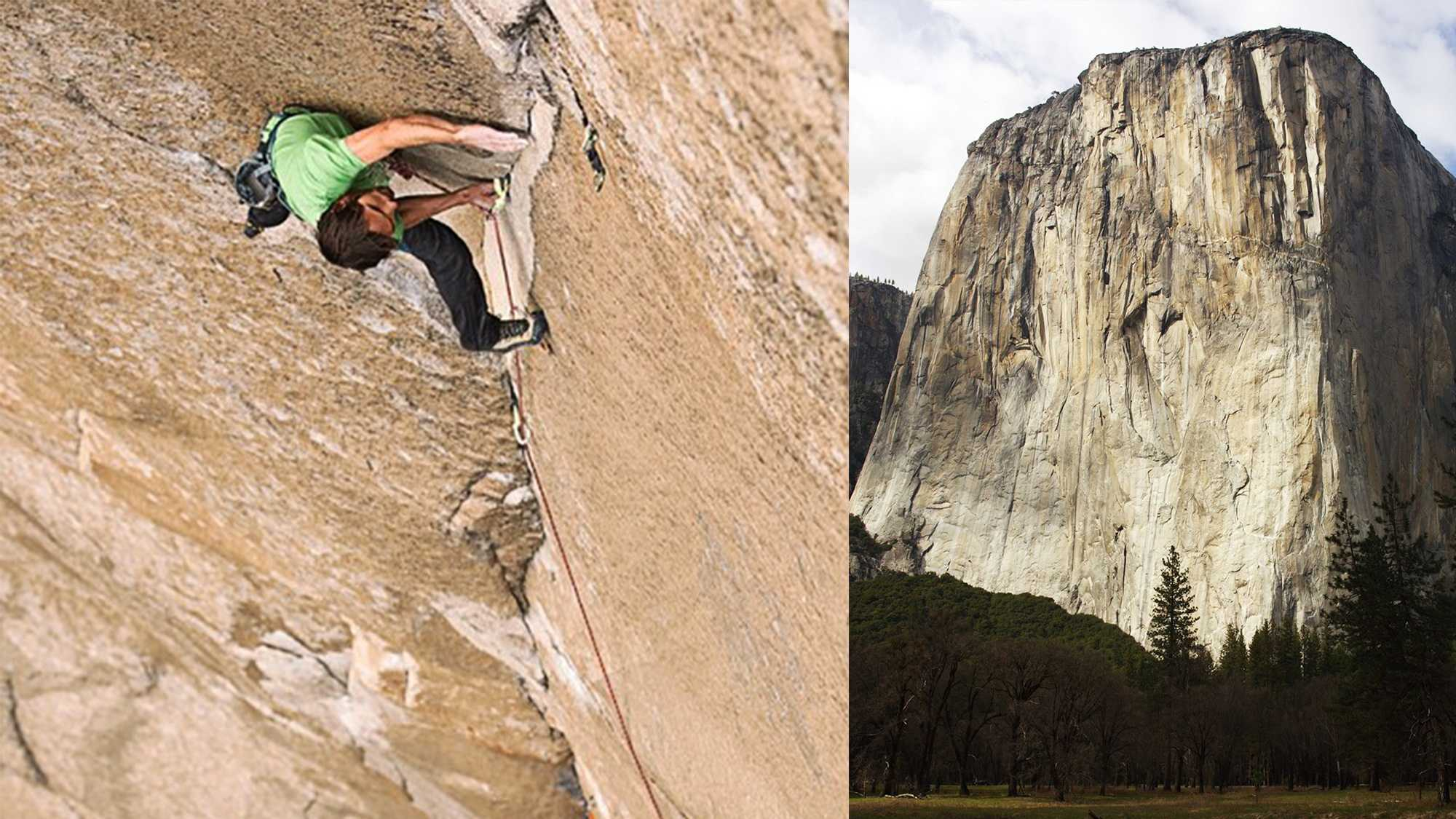Kevin Jorgeson, left, and Dawn Wall, right.