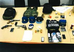 On Jan. 8 and 9, eight young men were arrested in a Seaside gang crackdown. Firearms, drugs, and Crips gang paraphernalia were seized.