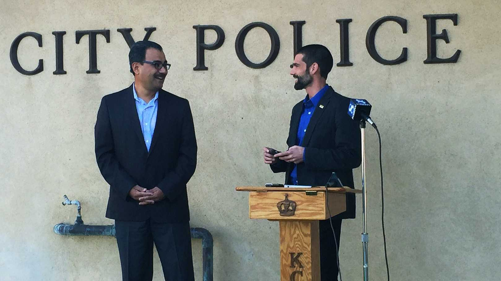 Greenfield Mayor John Huerta and King City Mayor Robert Cullen supported sharing a police chief.