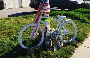 Lainez was a father of 11 children. This ghost bike memorial was made where he was killed.