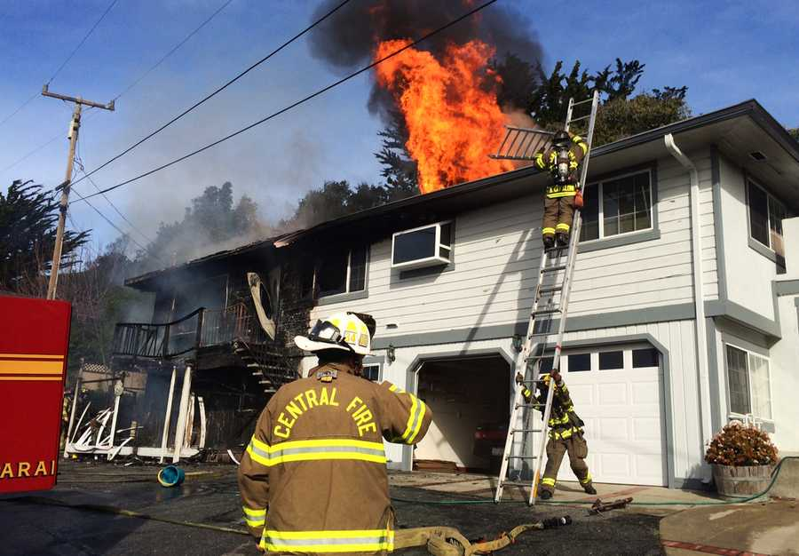 On Tuesday morning a 2-alarm fire injured one resident in a house at 3525 Mission Drive near Dominican Hospital.