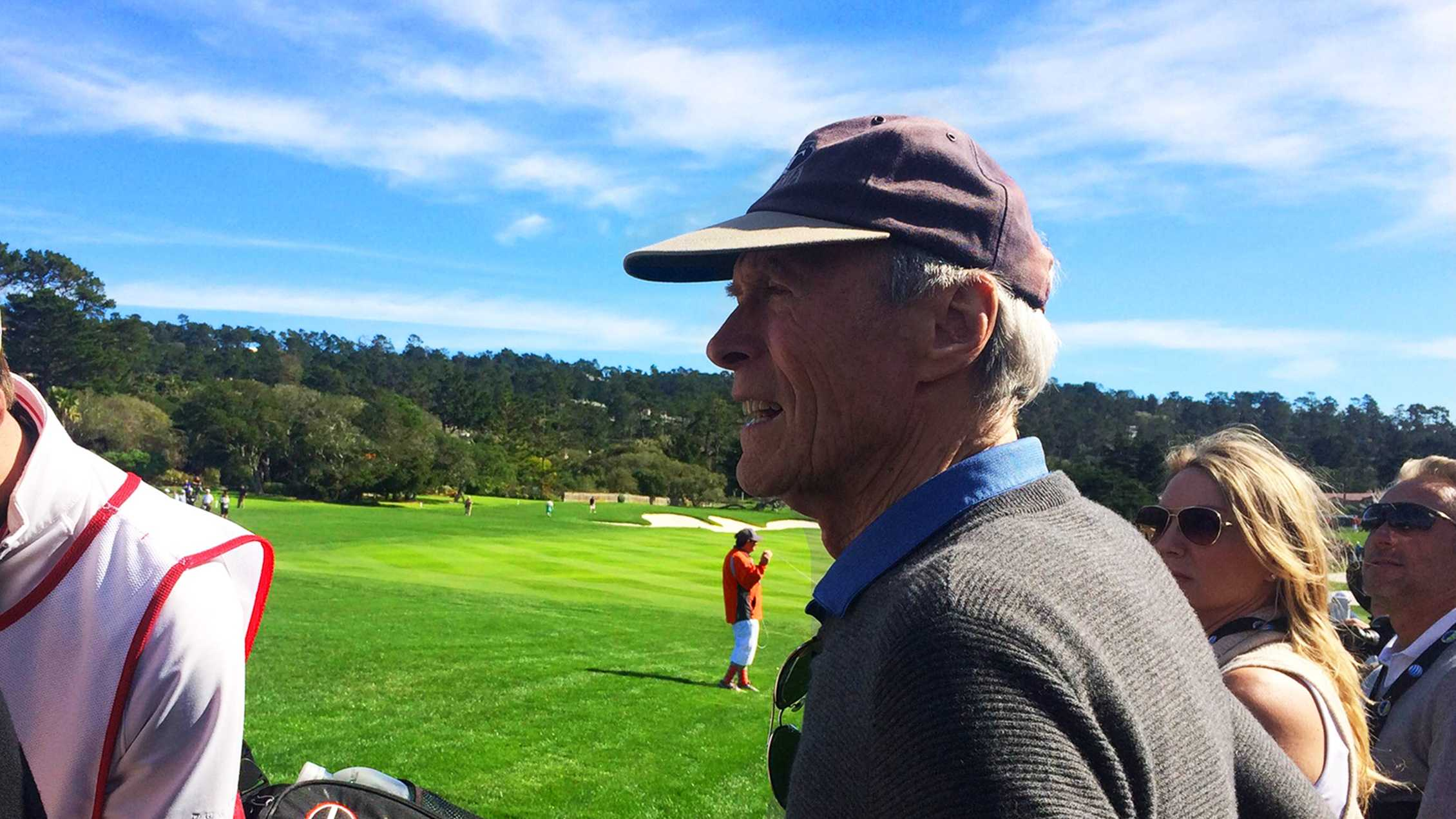 Clint Eastwood at the AT&T Pebble Beach National Pro-Am. (Feb. 2015)