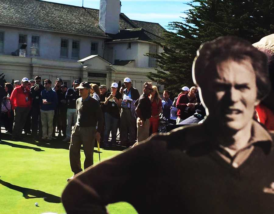 Clint Eastwood played in the Celebrity Challenge before the Pro Am, and his team won.