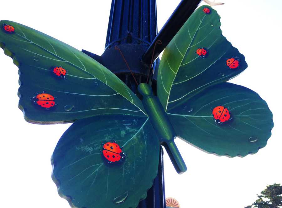 The public art will remain displayed through the end of the monarch's wintering season.