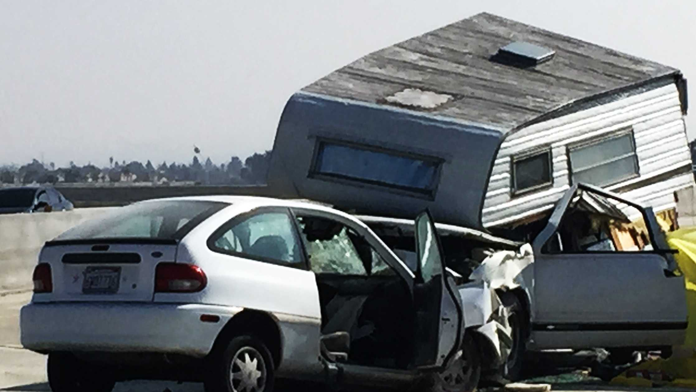 A wrong-way driver died on Highway 101 in Santa Maria south of Monterey County on Feb. 20, 2015.