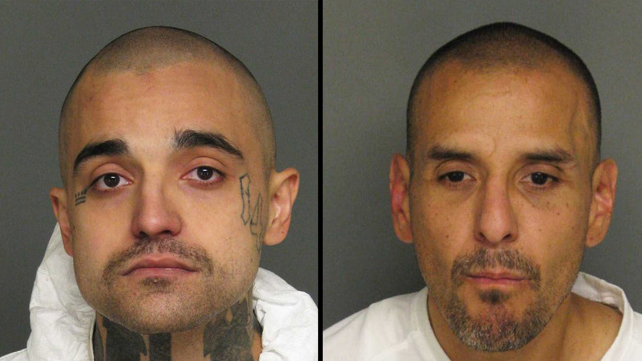 "Johnny ""Soldier Boy"" Magdaleno, left, and Vincent ""Chente"" Garcia, right, are seen in mug shots."