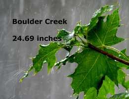 Boulder Creek :  24.69 inches