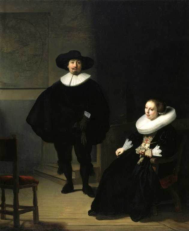 Rembrandt, A Lady and Gentlemen in Black, 1633