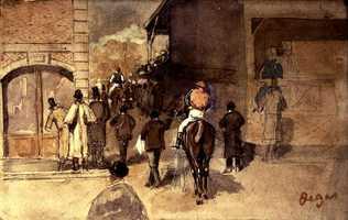 Degas, La Sortie de Pesage