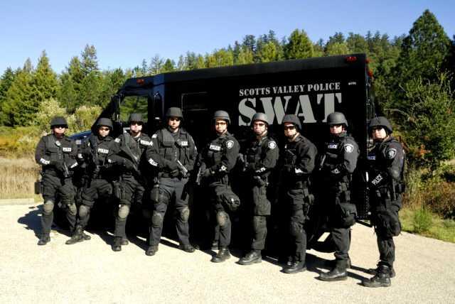 Scotts Valley: SWAT truck