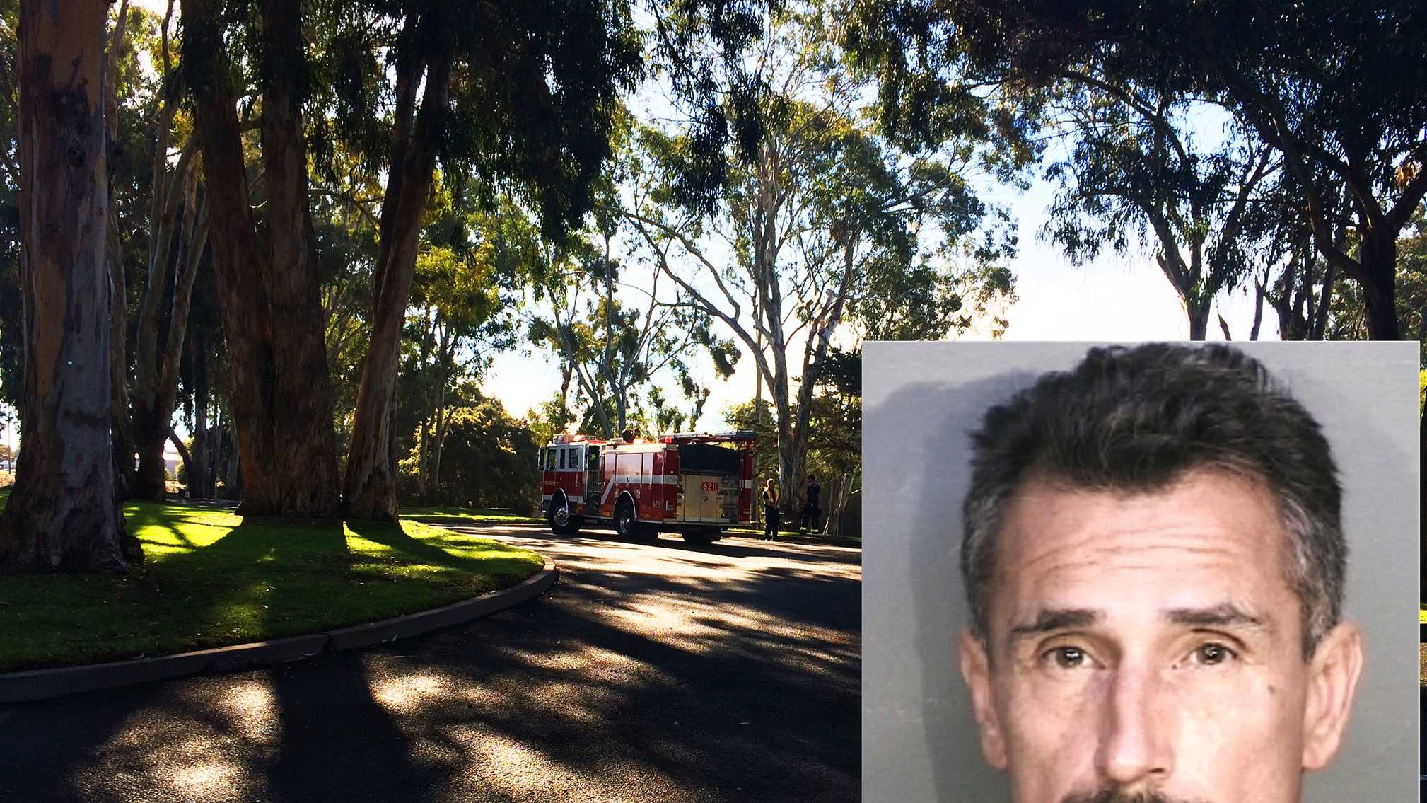 Steven Mark Palmer is accused of starting a fire at Laguna Grande Park in an attempt to kill someone, according to Seaside police.
