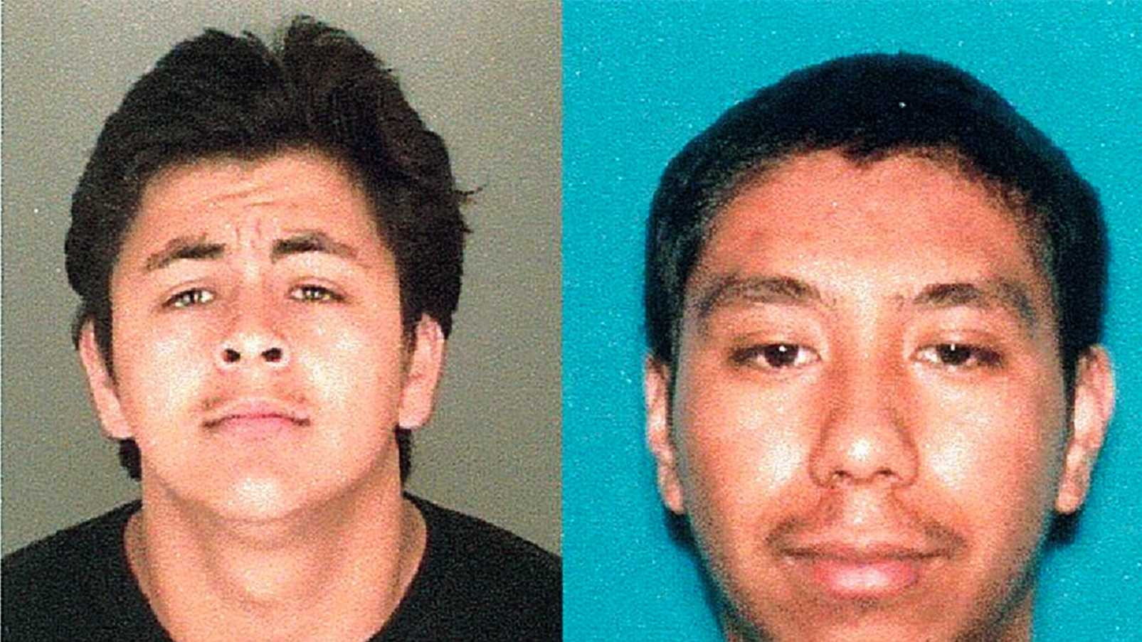 Ivis Ruvalcaba, left, is in jail. Edward Rodriguez, right, is at-large.