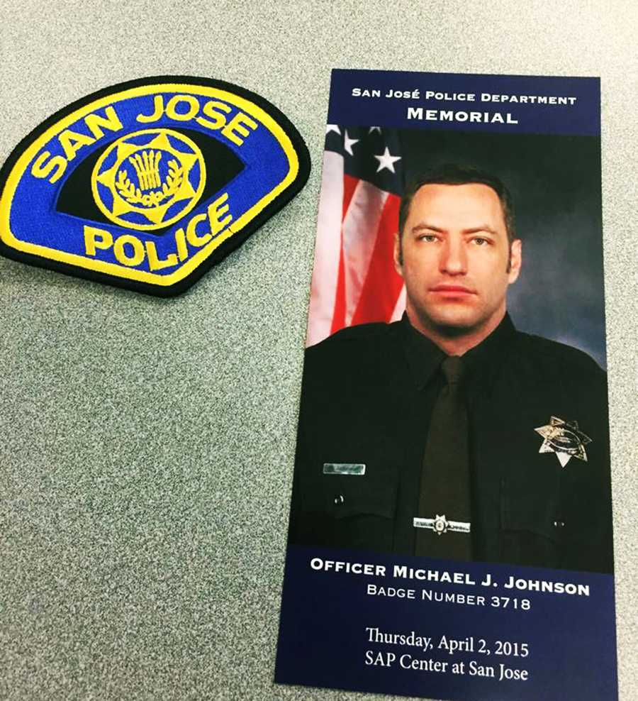 Officer Johnson was 38-years-old. He was gunned down March 24 when responding to a call for an armed and suicidal man. Scott Dunham shot Johnson from a second-floor balcony with a high-powered rifle.