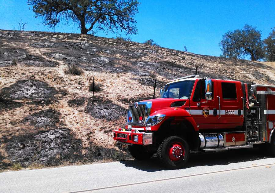 Pinnacles Fire - May 12 : Firefighters determined the blaze was caused by a CalTrans crew that was mowing brush in the area.