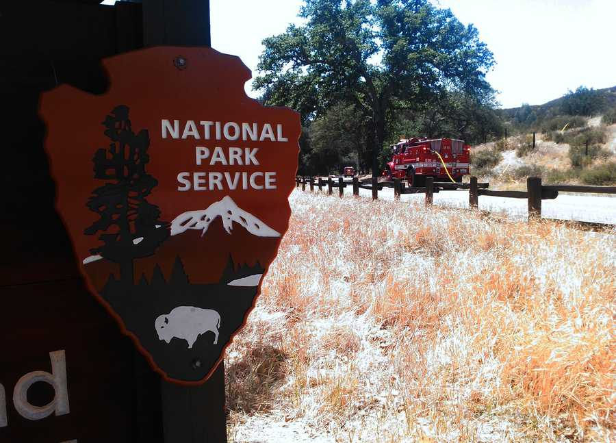 Pinnacles Fire - May 12 : CalFire fought a 10-acre wildfire that ignited on the east side ofPinnacles National Park near a visitors center.