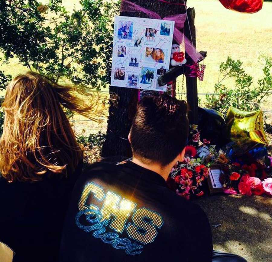 """Natalia Salcido was fatally injured at this crash site.Christopher High School Principal Winslow said, """"Unfortunately this is the second traffic fatality for our school within a week's span, so we are providing grief services for both events. It is a very sad week for our community."""""""
