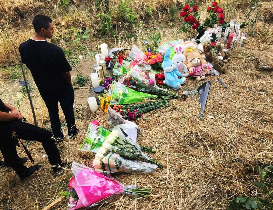 Teens remained at the crash site days after the wreck.