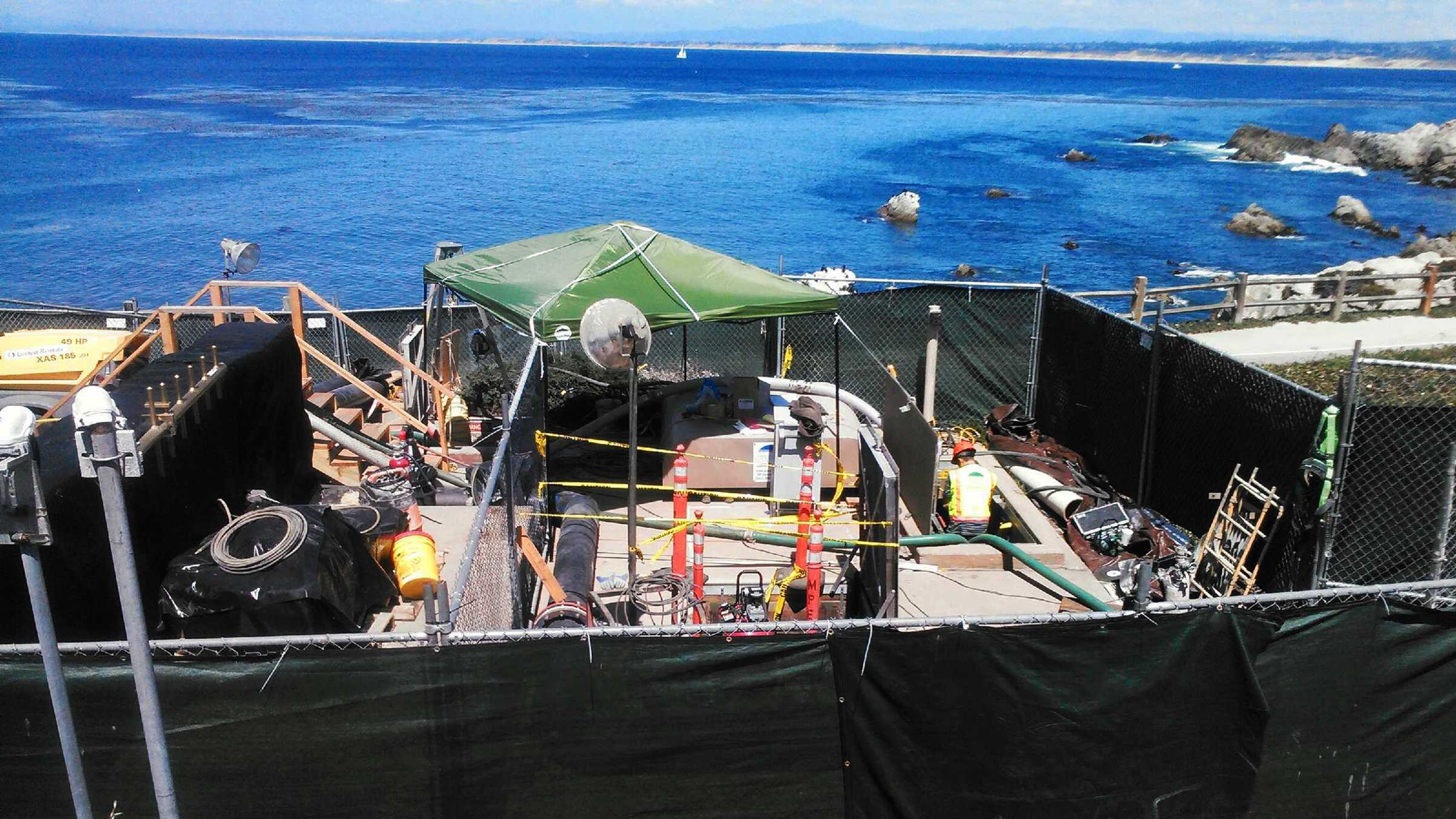 Pacific Grove sewage spill (May 18, 2015)