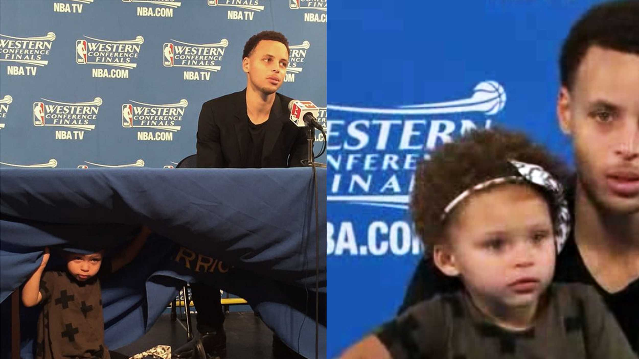 Stephen Curry and his cute daughter
