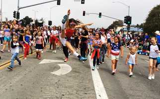 Dancers leaped their way through the Aptos parade.