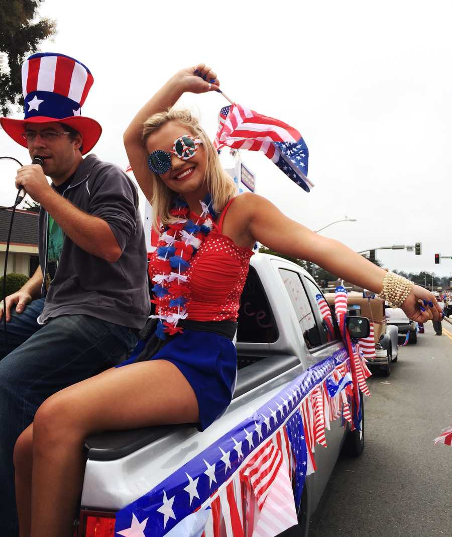 Aptos hosted The World's Shortest Fourth of July Parade.
