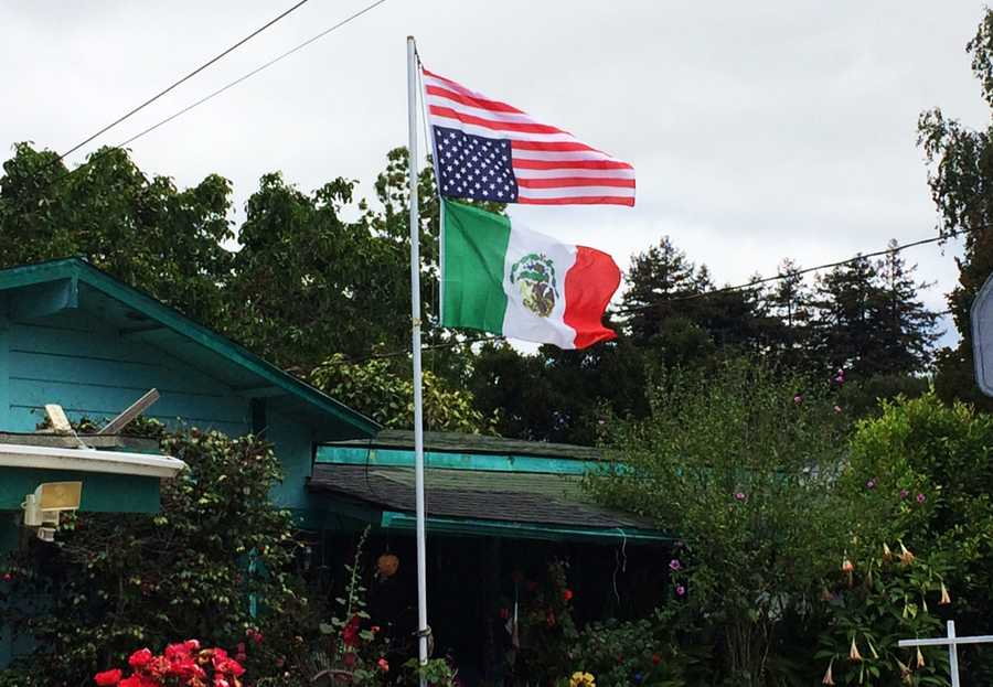 "A Watsonville man caused a neighborhood uproar by flying the American flag upside-down in his front yard. ""Those who are in the military who have seen it are quite upset,"" said Kellie Allyn, who's a friend of a neighbor."