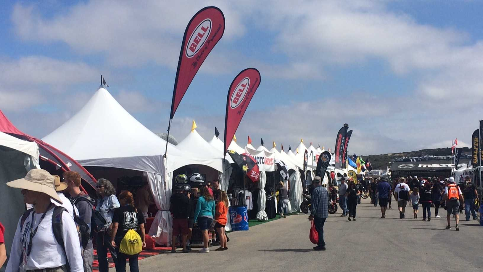 Thousands of motorcycle lovers flocked to Mazda Raceway Laguna Seca Saturday for the Superbike World Championship.