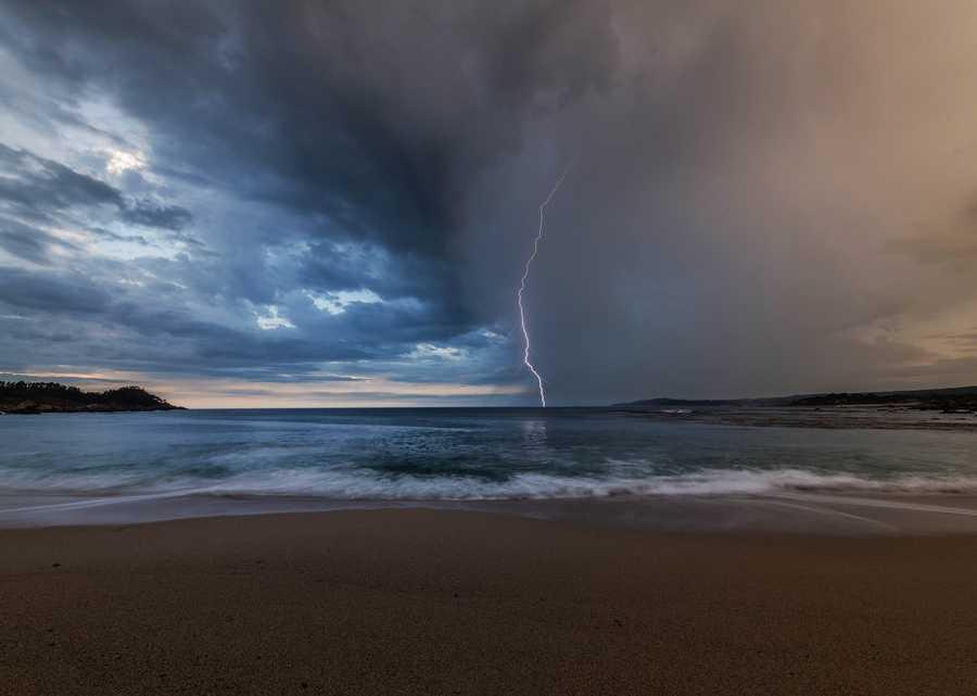 John Bostwick shot this mesmerizing photo of lightning atMonastery Beach in Carmel. (July 19, 2015)