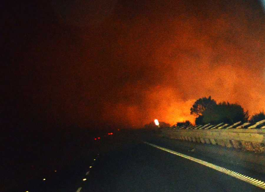 Lightning sparked this wildfire at Pacheco Pass.