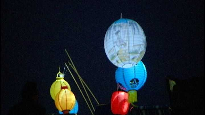 The annual Feast of Lanterns festival lit up Lover's Point Park in Pacific Grove Saturday night.