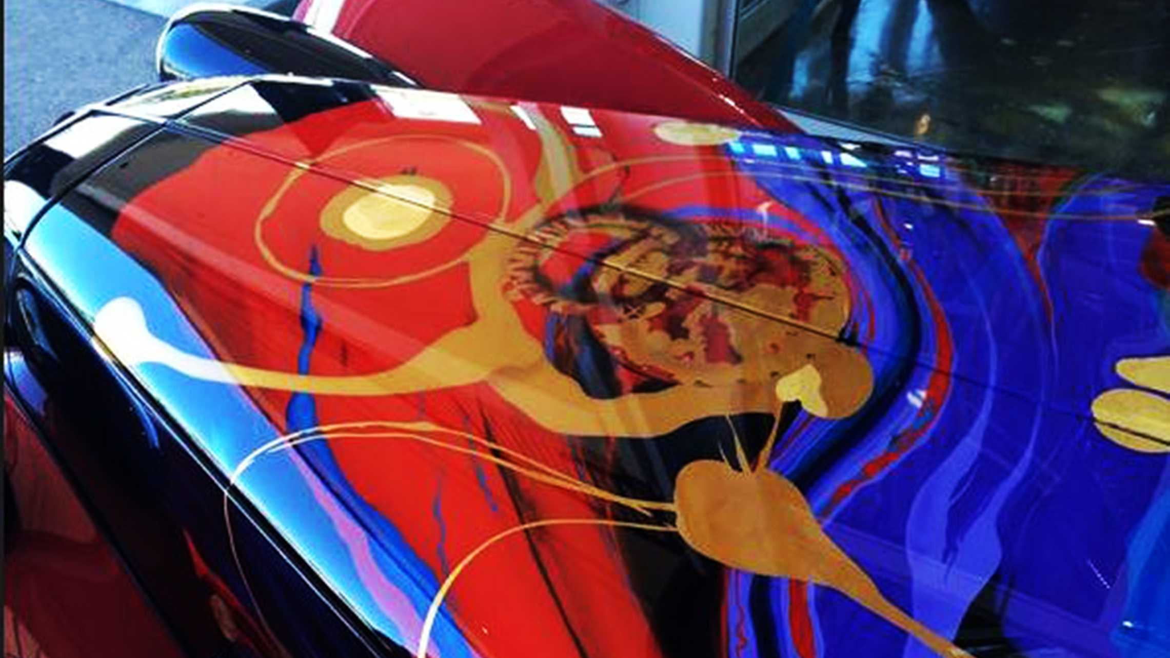 Gold leaf painted car (Aug. 11, 2015)