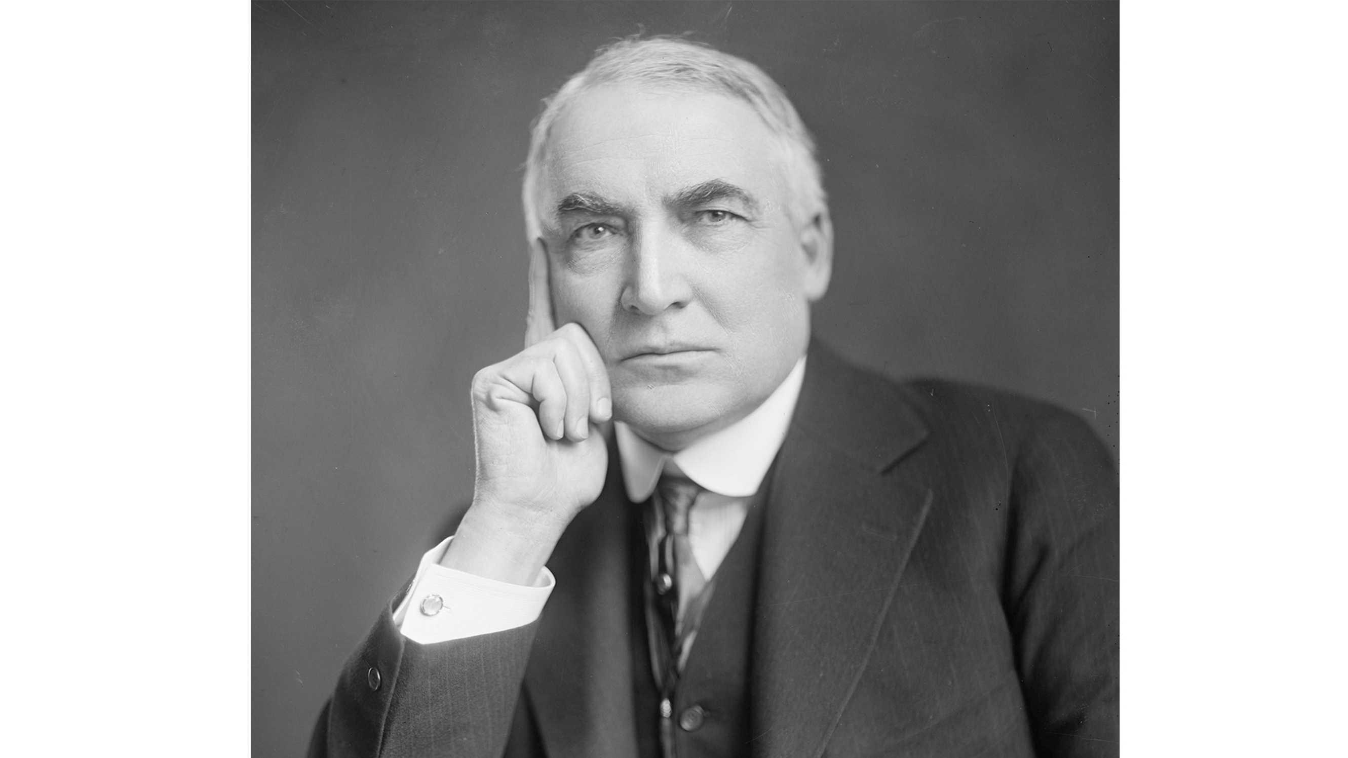 Former president Warren G. Harding