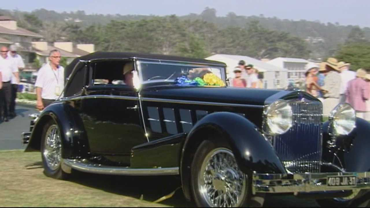 Classic car week comes to an end with the Concours d'Elegance at Pebble Beach.