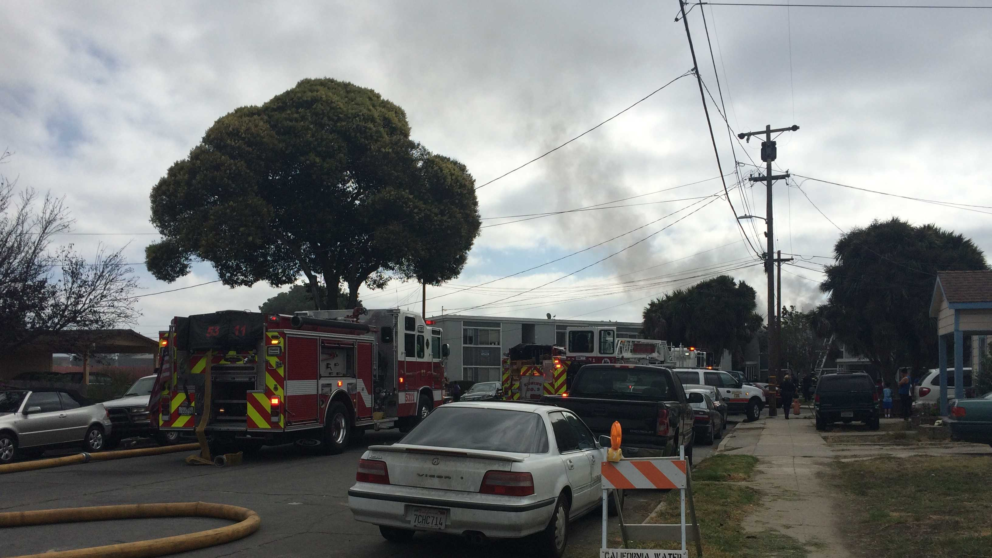 A 20-year-old man was killed in an apartment fire in south Salinas just before 10 a.m. Saturday.