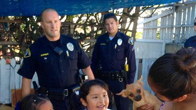 Seaside police officer buys family new dog