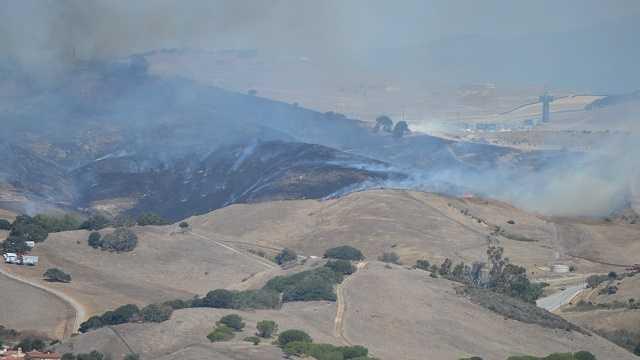 Fire breaks out near Mazda Raceway Laguna Seca