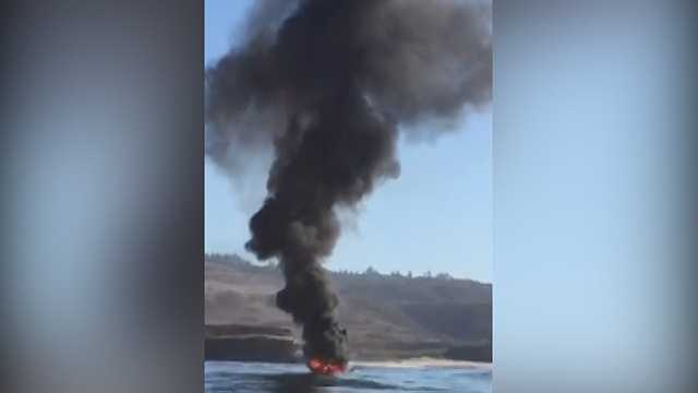Fish and Wildlife wardens rescued after boat explodes near Santa Cruz