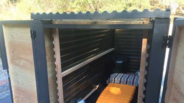 Carmel Valley man builds portable homeless shelter