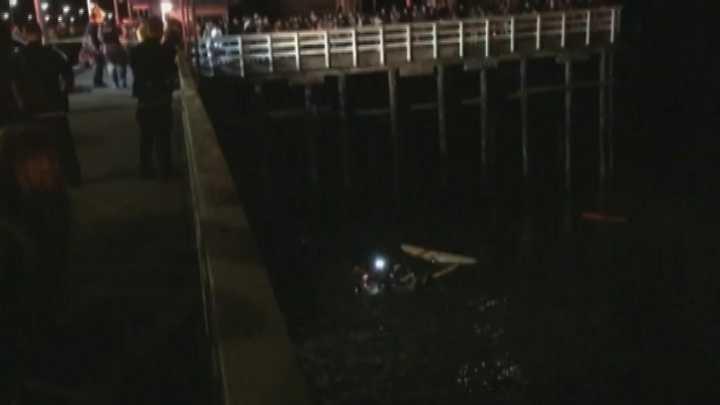 Man dies after driving off municipal wharf in Santa Cruz