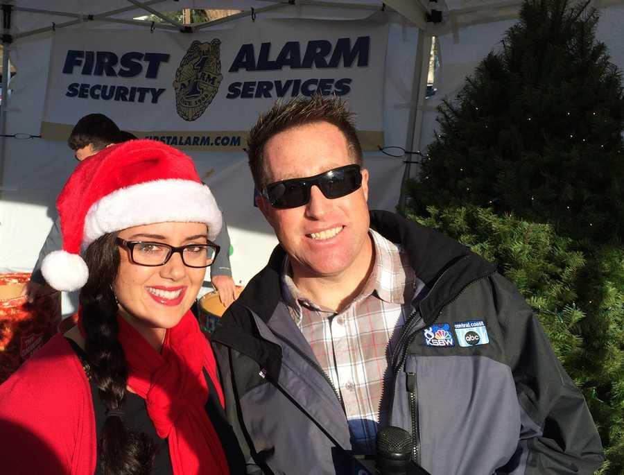 Kaylee Young and meteorologist Lee Solomon