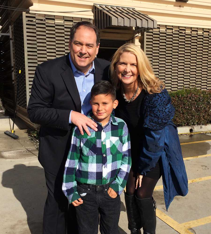 A young KSBW fan met Dan Green and Erin Clark.