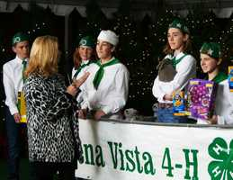 Members of 4-H brought a cute bunny to Salinas.